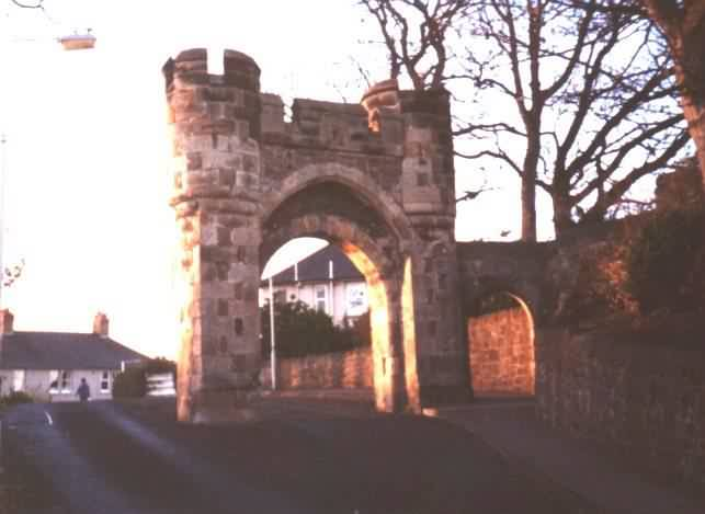 The arches - entrance to Rossend Castle